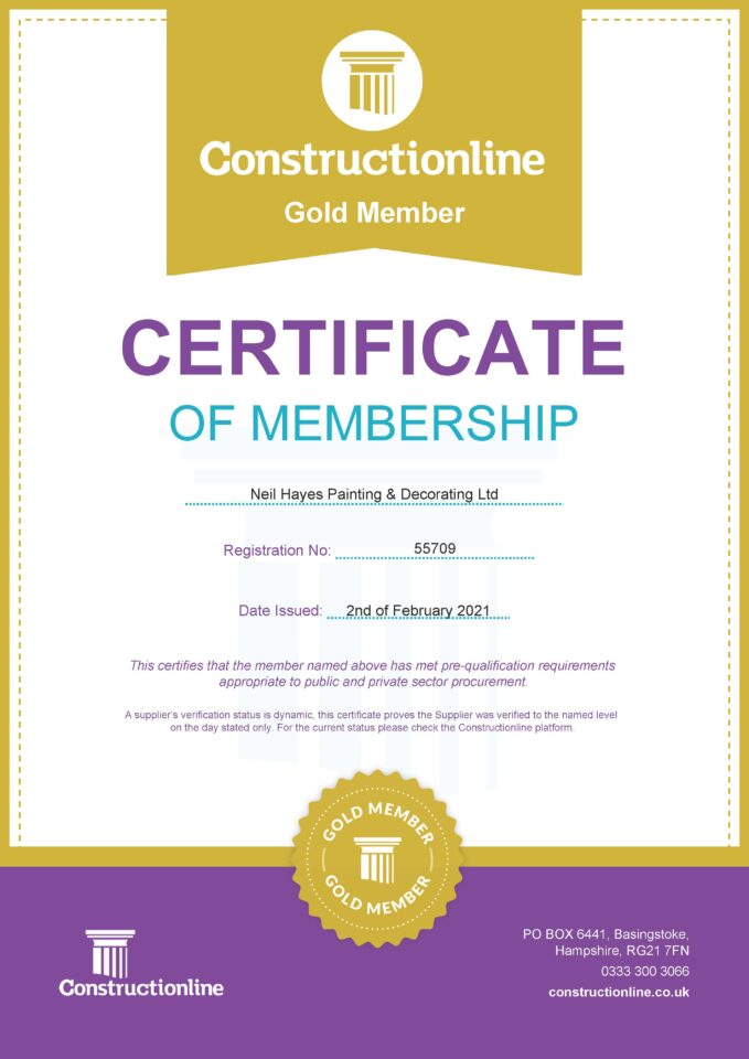 ConstructionLine Gold Member Certificate 02.02.2021